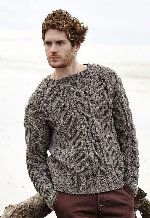 ciepły męski sweter