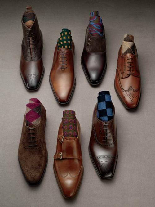 buty w męskiej szafie