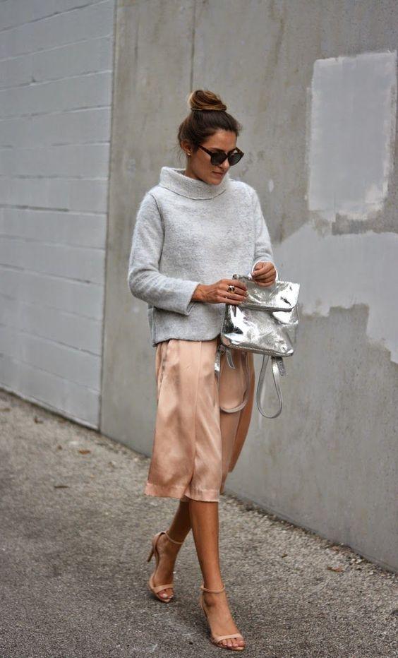 srebrny kolor w jesiennych trendach